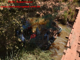 """Maracaju: Condutor conduzindo caminhonete Triton na estrada da """"Picadinha"""", cai em leito do Córrego Sete Volta"""