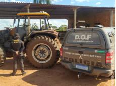 Trator furtado em Itaquiraí foi recuperado pelo DOF durante a Operação Hórus
