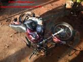 Maracaju: Corpo de Bombeiros atende acidente onde condutora de motocicleta sofre traumatismo craniano após sofrer queda na Vila Juquita