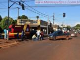 Maracaju: Corpo de Bombeiros e Polícia Militar atendem acidente em cruzamento