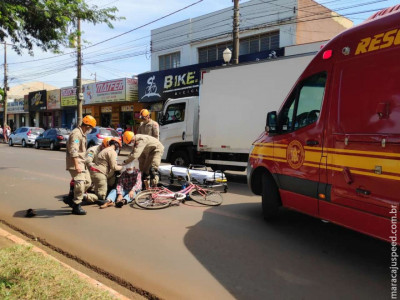 Idoso é atropelado na Avenida Marcelino Pires e sofre lesão na cabeça