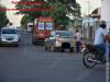 Maracaju: Bombeiros atendem ocorrência de acidente envolvendo veículo e motociclista na Av. Marechal Floriano