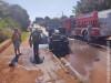 Maracaju: Bombeiros atendem ocorrência de fogo em veículo na região da Biquinha