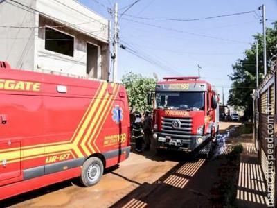 Crianças gritam por socorro e são salvas por vizinhos de incêndio em Campo Grande