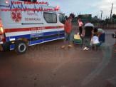 Maracaju: Homem sofre queda de moto em desnível da linha férrea na MS-162 e tem fratura exposta de tíbia e fíbula da perna esquerda