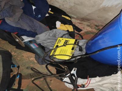 """Maracaju: Polícia Civil prende em flagrante homem que furtou ferramentas de obra em que trabalhava"""""""