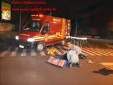 Maracaju: Corpo de Bombeiros atendem ocorrência de colisão entre motocicleta e veículo na região central