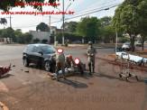 Maracaju: Bombeiros atendem ocorrência de acidente de trânsito a 80 metros do Pronto Socorro