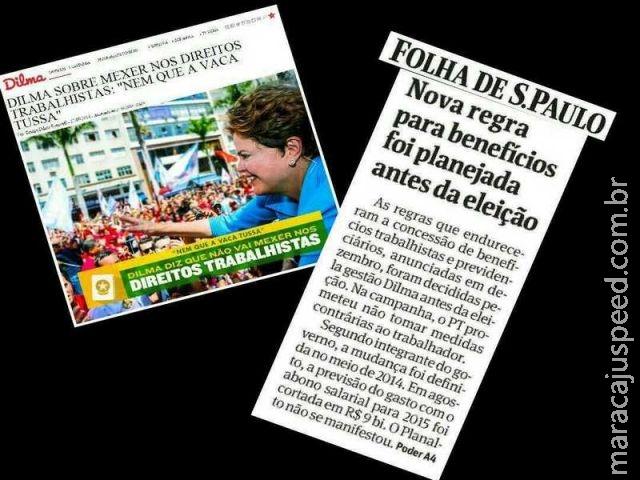 Haja incoerência! Dilma mentiu aos brasileiros ao negar mudanças nos direitos trabalhistas