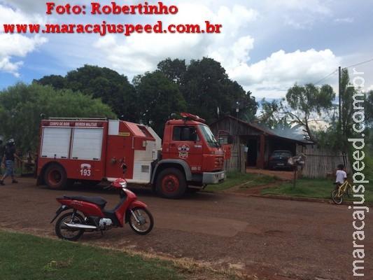 Maracaju: Incêndio em uma residência na Vila Juquita
