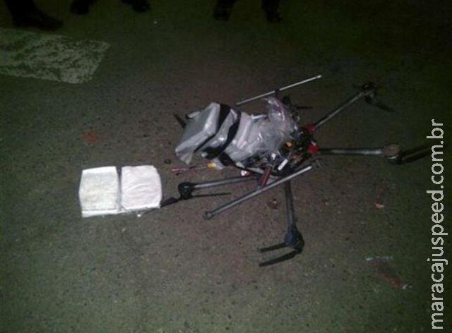 Drone com carga de droga cai na fronteira entre Mexico e EUA