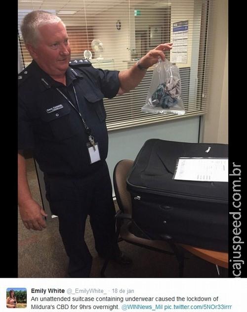 Mala com duas cuecas leva a alerta de bomba na Austrália