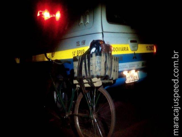 PRE encontra bicicleta abandonada com 48 kg de maconha