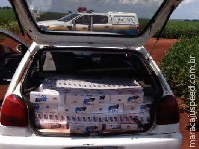 PRE Base de Vista Alegre apreende veículo carregado de cigarro