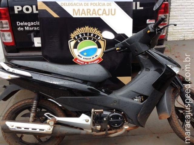 Maracaju: Polícia Civil recupera motocicleta furtada em Dourados