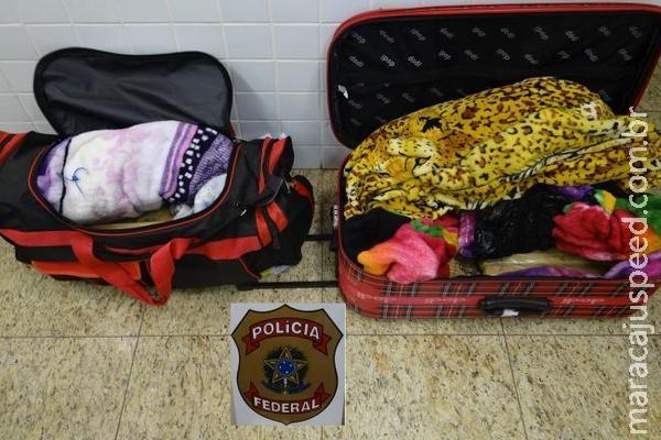 PF prende três pessoas tentando embarcar com drogas no aeroporto