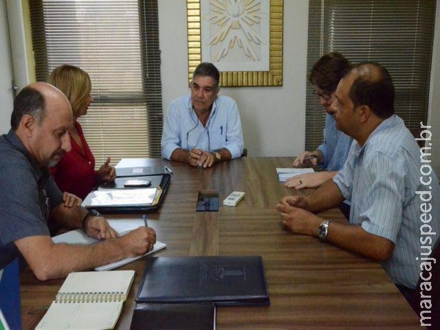 Maracaju: Em reunião no gabinete do prefeito Programa Mercado Escola foi apresentado