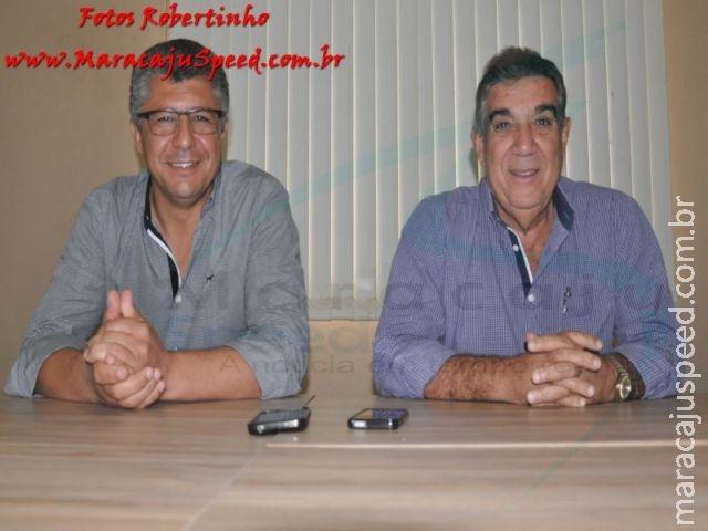 Prefeito reeleito Maurílio agradeceu a população maracajuense pela expressiva votação em entrevista coletiva a imprensa