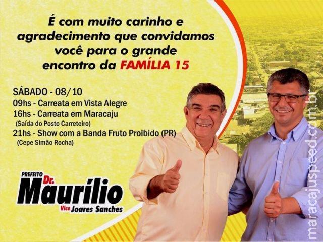 Maracaju: Carreata da Família 15 e Show da Família 15 acontecerá neste sábado