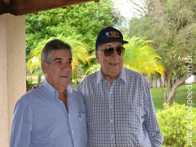Prefeito de Maracaju, Dr. Maurílio participa da confraternização do Senador Pedro Chaves