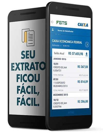 Consulta de contas inativas do FGTS pode ser feita por celular