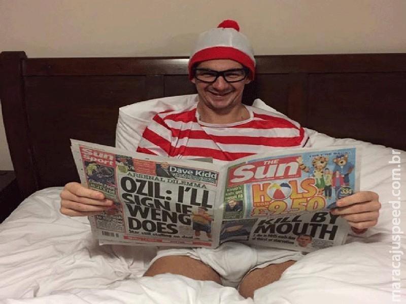 Homem procurado se veste de Wally para desafiar polícia britânica