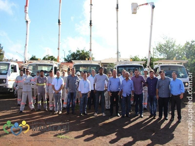 Vereadores participam de abertura de manutenção Energisa em Maracaju