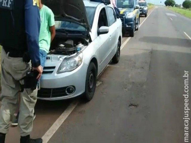 PRF recupera 5 veículos roubados e clonados