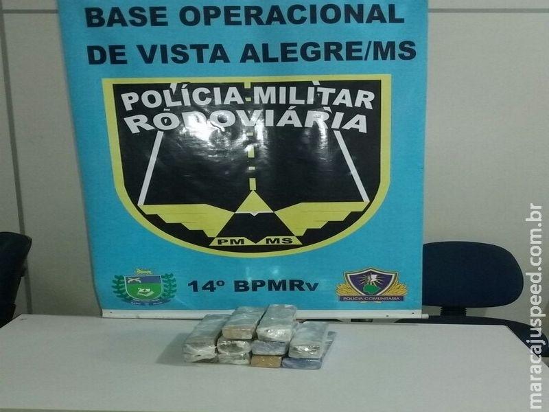 Traficante adolescente morador de Maracaju é preso pela PRE Vista Alegre com mala recheada de maconha