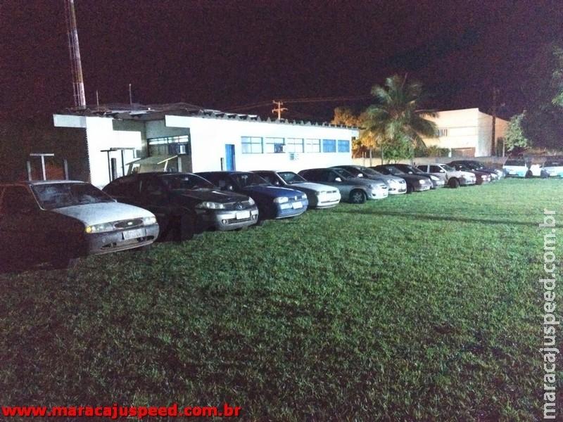 Comboio de 12 veículos são apreendidos com contrabando pela PM em Maracaju