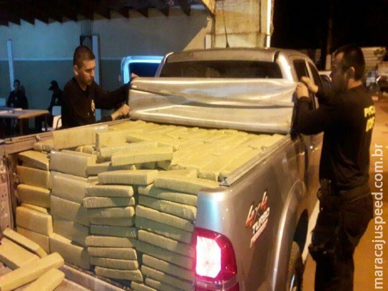 Maracaju: DOF apreende mais de uma tonelada de drogas na rodovia MS-164 e recuperada caminhonete produto de roubo/furto