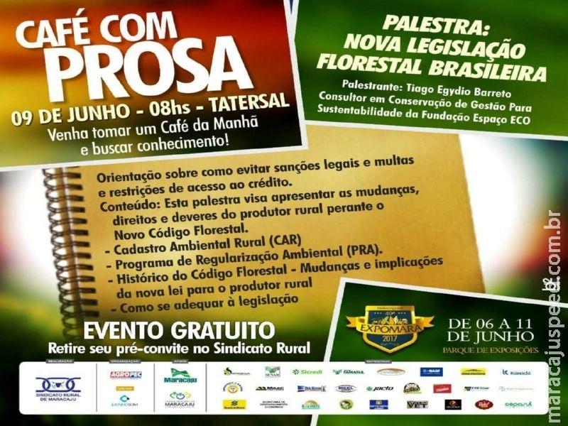 """Maracaju: Evento """"Café com Prosa"""" na 49ª Expomara"""