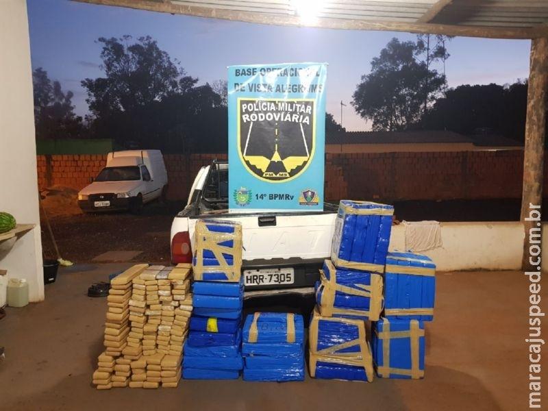 Maracaju: PRE BOP Vista Alegre apreende 361 kg de maconha na MS-164