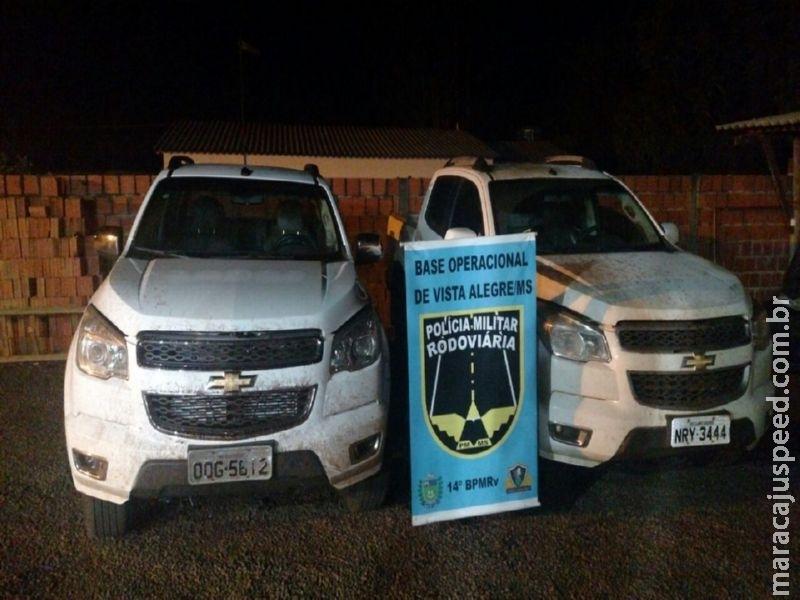 Maracaju:  PRE BOP Vista Alegre recupera duas caminhonetes de luxo produtos de Roubo/Furto após acompanhamento tático na MS-164