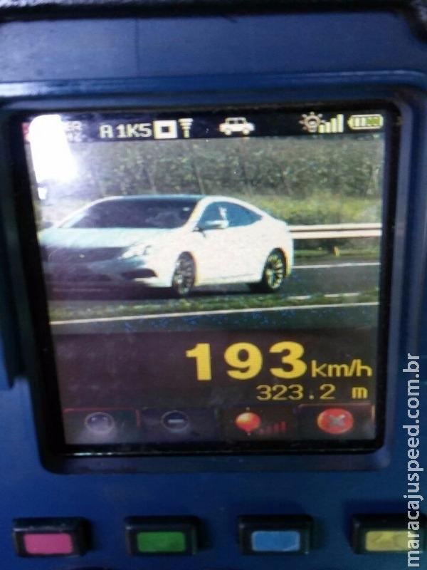 Veículo é flagrado a 193 km/h na BR-163 em MS