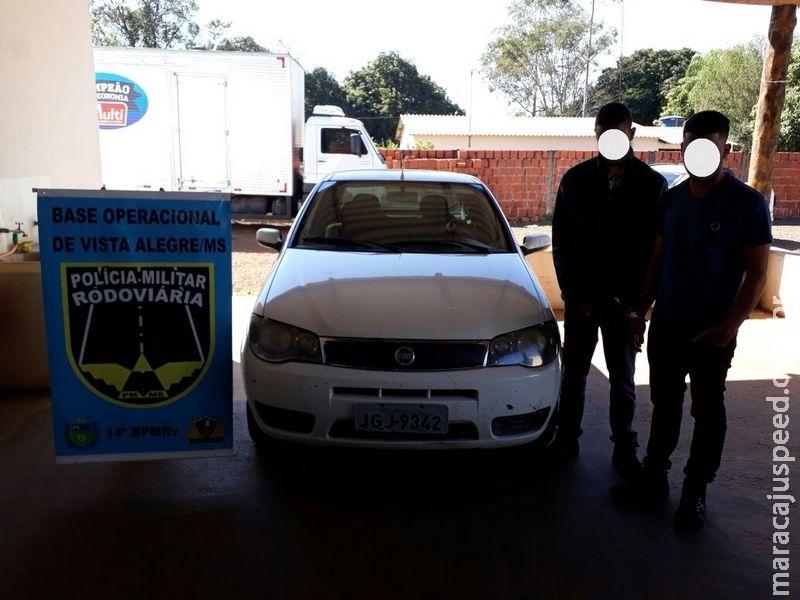 Maracaju: PRE BOP Vista Alegre recupera veículo com queixa de roubo e prende dois homens por receptação