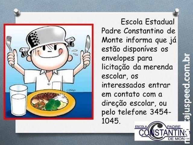 Aviso de Licitação Escola Estadual Padre Constantino de Monte - Maracaju
