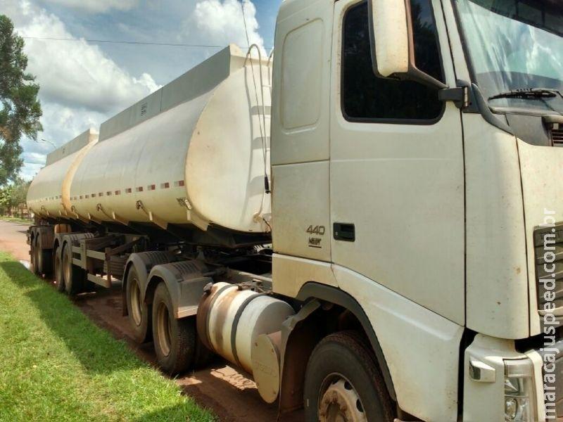 DOF recupera caminhão furtado conduzido por homem foragido da Justiça