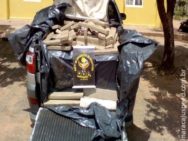 DOF recupera veículo furtado com mais de meia tonelada de droga
