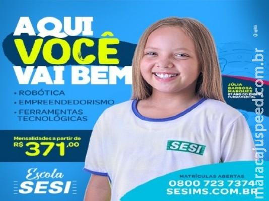 Escola SESI de Maracaju abrem matrículas em Dezembro