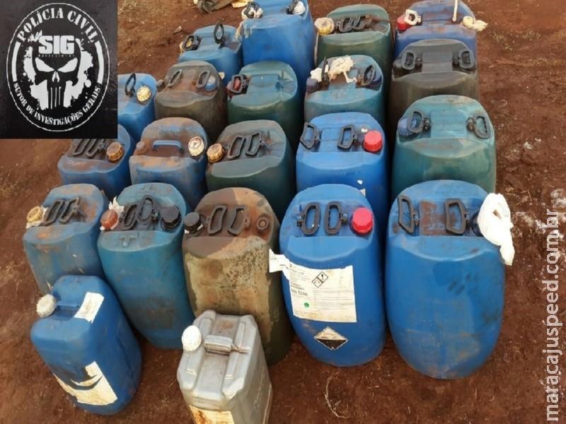 Polícia Civil de Maracaju fecha ponto de venda ilegal de combustível