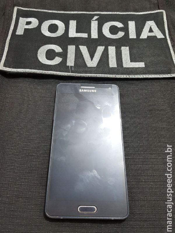 Polícia Civil de Maracaju prende autor de furto de celular em flagrante