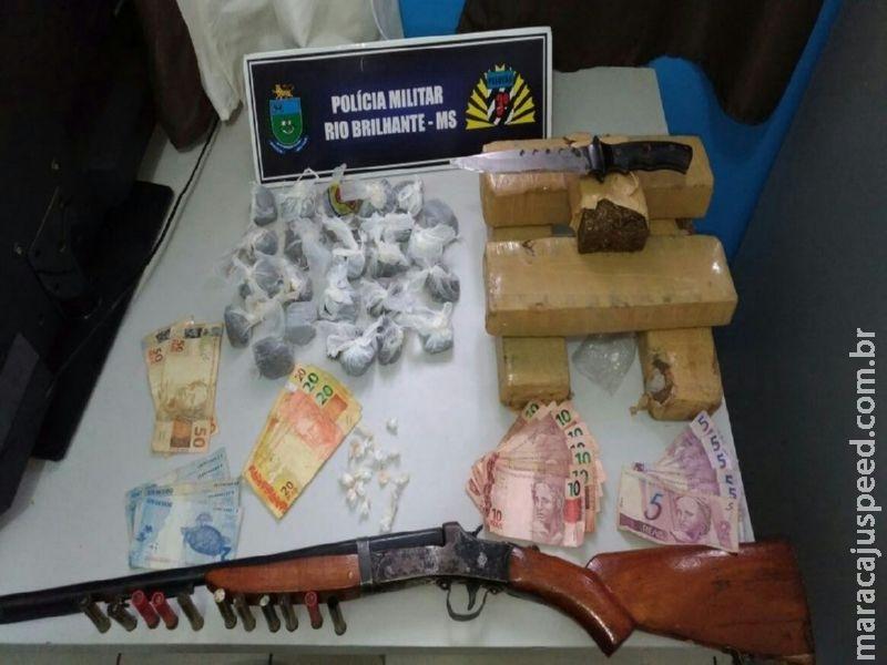 "Polícia Militar de Rio Brilhante fecha ""BOCA DE FUMO"" e apreende dois adolescentes por Ato Infracional análogo a tráfico de drogas"