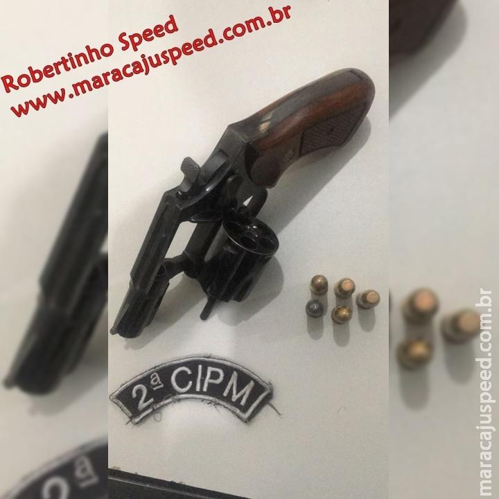Maracaju: Polícia Militar apreende arma de fogo em veículo e proprietário é preso em flagrante