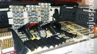 Três presos em MS por tráfico internacional de armas são oficiais da Marinha