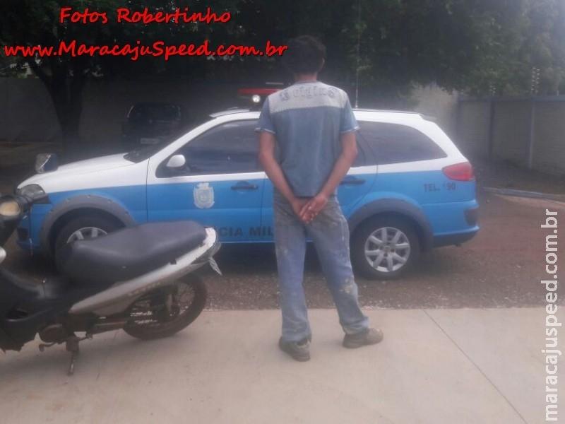 Maracaju: PM recupera motocicleta furtada e prende condutor por receptação