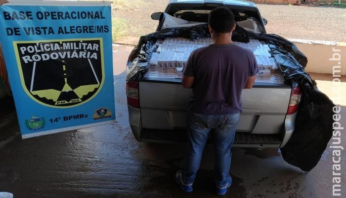 Maracaju: PRE BOP Vista Alegre apreende carregamento de cigarro oriundo do Paraguai