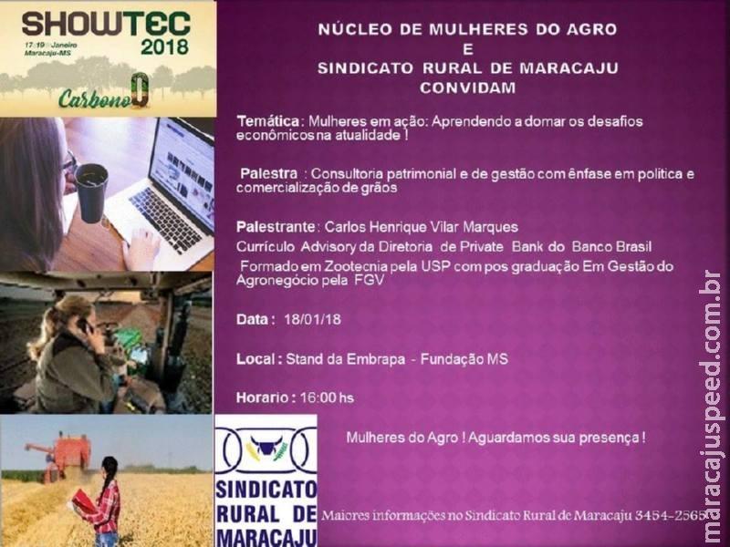 Núcleo de Mulheres do Agro realizará palestra durante no Showtec 2018