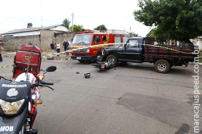 Colisão no Taveirópolis: bombeiros ressuscitam garupa em parada cardíaca