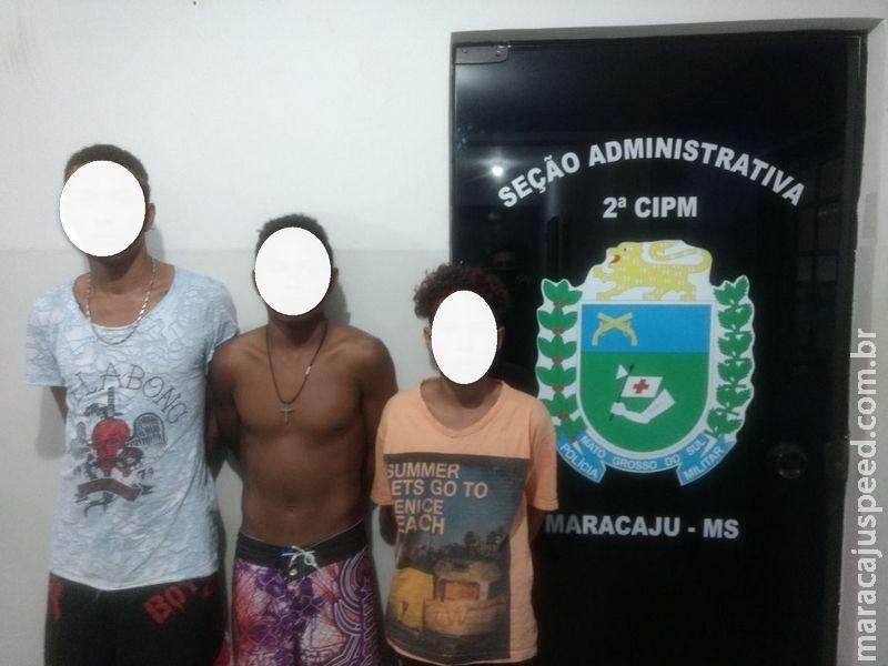 Maracaju: PM apreende três adolescentes por portar drogas para consumo pessoal no CEPE da Vila Margarida